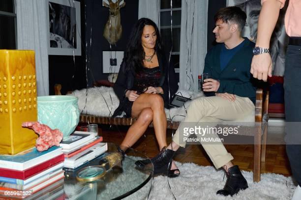 Emma Snowdon Jones and Jason Hoffman attend Deborah Hughes Birthday Celebration at Private Residence on April 6 2017 in New York City
