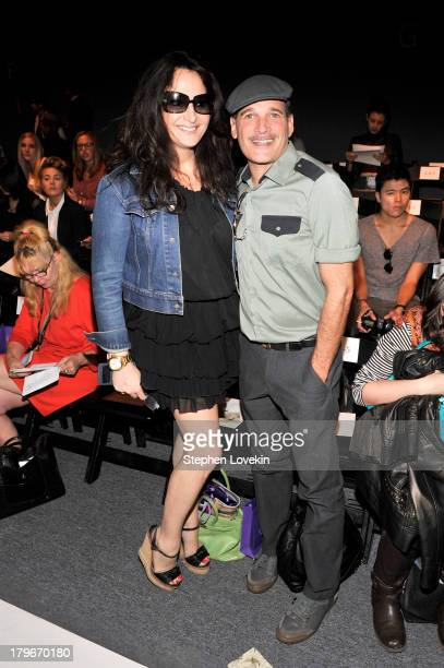 Emma Snowdon Jones and Phillip Bloch attend the Noon By Noor Spring 2014 fashion show during MercedesBenz Fashion Week at The Studio at Lincoln...