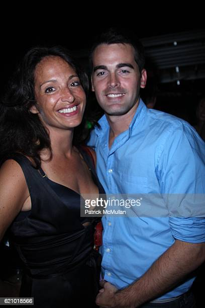 Emma SnowdonJones and Andrew Freesmeier attend The USTA and HEINEKEN PREMIUM LIGHT KickOff the 2008 US OPEN at The Empire Hotel Rooftop on August 22...