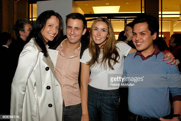 Emma SnowdonJones Justin Belmont Anya Assante and PJ Pascua attend L'Oeil De Beaute FRANCOIS NARS Photo Retrospective at HENRI BENDEL Benefitting...