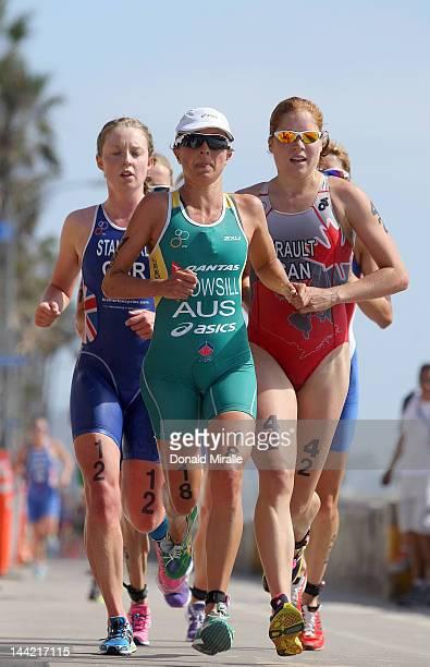Emma Snowsill of Australia competes during the 2012 ITU World Triathlon San Diego Elite Women Race on May 11 2012 in San Diego California