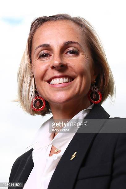 Emma Snowsill poses for a portrait during the Sport Australia Hall of Fame Induction Media Opportunity at Crown Entertainment Complex on October 10...