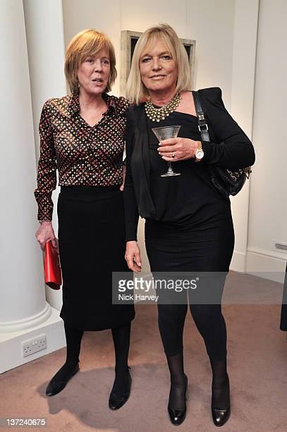 Emma Soames and Celestia Fox attend the book launch party of David Hockney The Biography by Christopher Simon Sykes at Sotheby's on January 16 2012...