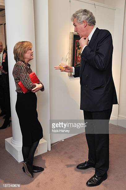 Emma Soames and Henry Wyndham attend the book launch party of David Hockney The Biography by Christopher Simon Sykes at Sotheby's on January 16 2012...