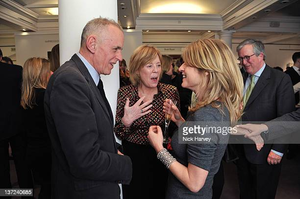Emma Soames and Rachel Johnson attend the book launch party of David Hockney The Biography by Christopher Simon Sykes at Sotheby's on January 16 2012...