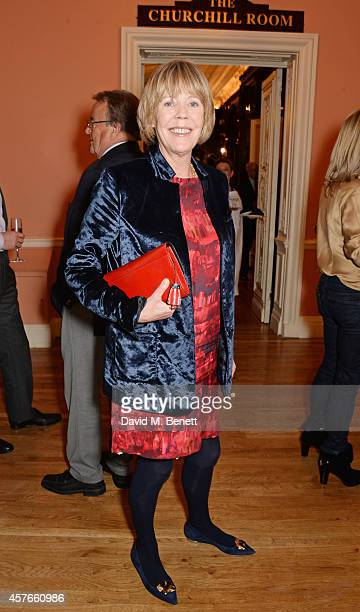 Emma Soames attends the launch of Boris Johnson's new book The Churchill Factor How One Man Made History at Dartmouth House on October 22 2014 in...