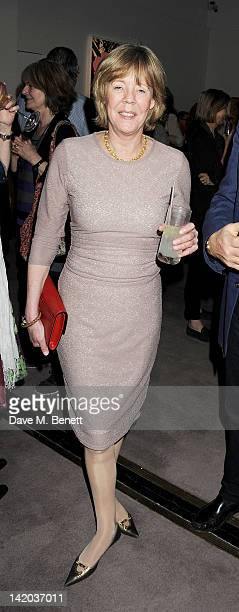 Emma Soames attends the launch of British Vogue editor Alexandra Shulman's debut novel 'Can We Still Be Friends' at Sotheby's on March 28 2012 in...