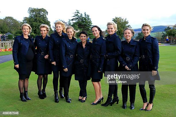 Emma Stenson Allison McGinley Katie Poulter Kate Rose Laurae Westwood Kathryn Tagg Pernilla Bjorn Helen Gallacher and Katharina Boehm wives and...