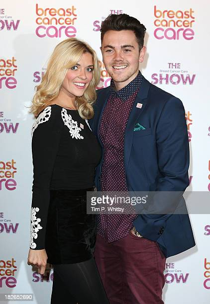 Emma Stephens and Ray Quinn arriving at the afternoon performance of the Breast Cancer Care Fashion Show at Grosvenor House on October 2 2013 in...