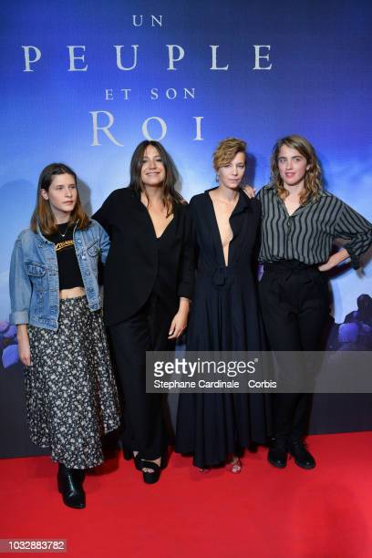 Emma Stive Izia Higelin Celine Sallette and Adele Haenel attend Un Peuple Et Son Roi Paris Premiere at Gaumont Capucines on September 13 2018 in...