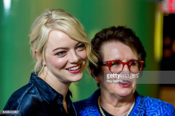 Emma Stone and Billie Jean King attend 'Battle of the Sexes' special anniversary screening at SVA Theater on September 19 2017 in New York City