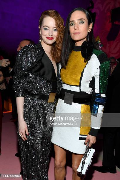 Emma Stone and Jennifer Connelly attend The 2019 Met Gala Celebrating Camp Notes on Fashion at Metropolitan Museum of Art on May 06 2019 in New York...