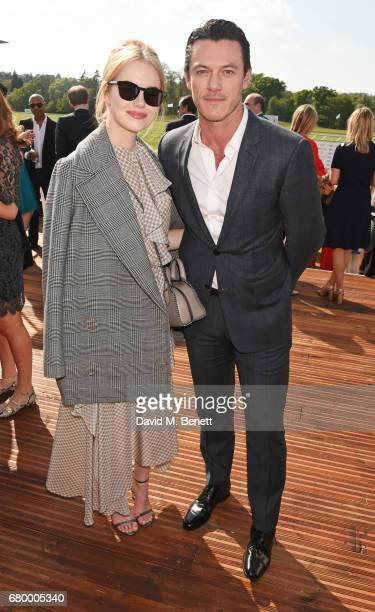 Emma Stone and Luke Evans attend the Audi Polo Challenge at Coworth Park on May 7 2017 in Ascot United Kingdom