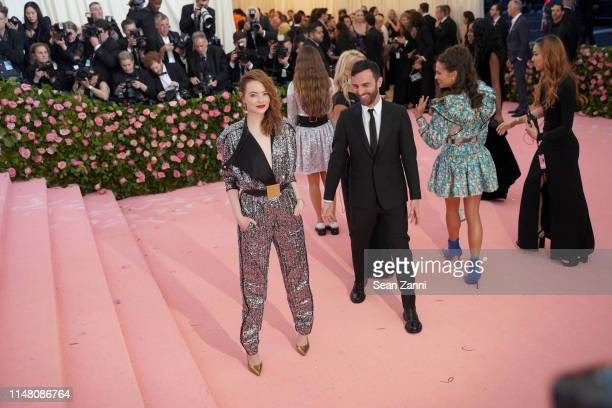 Emma Stone and Nicolas Ghesquiere attend The Metropolitan Museum Of Art's 2019 Costume Institute Benefit Camp Notes On Fashion at Metropolitan Museum...
