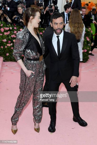 Emma Stone and Nicolas Ghesquière attend The 2019 Met Gala Celebrating Camp Notes On Fashion at The Metropolitan Museum of Art on May 06 2019 in New...
