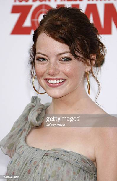 """Emma Stone arrives at Sony Pictures Premiere of """"You Don't Mess With the Zohan"""" on May 28, 2008 at Grauman's Chinese Theatre in Hollywood, California."""