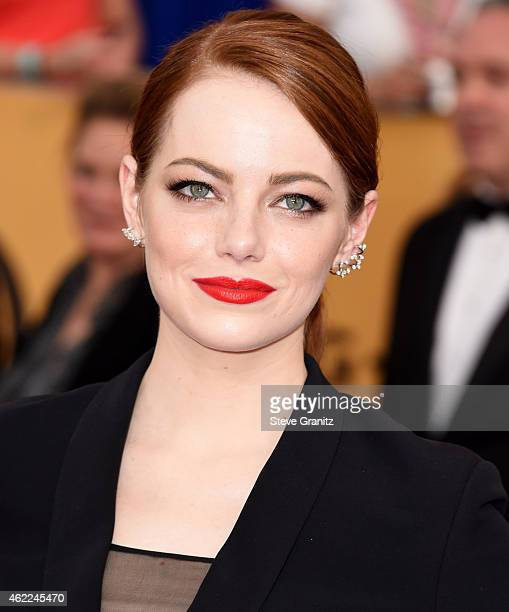 Emma Stone arrives at the 21st Annual Screen Actors Guild Awards at The Shrine Auditorium on January 25 2015 in Los Angeles California