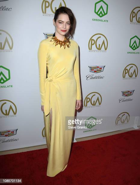 Emma Stone arrives at the 30th Annual Producers Guild Awardsat The Beverly Hilton Hotel on January 19 2019 in Beverly Hills California