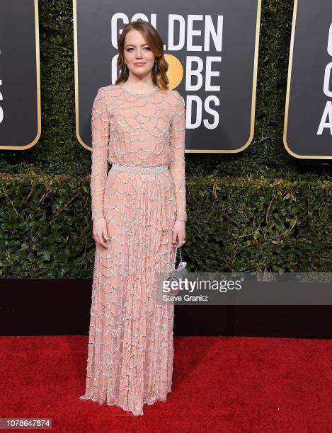 Emma Stone arrives at the 76th Annual Golden Globe Awardsat The Beverly Hilton Hotel on January 6 2019 in Beverly Hills California