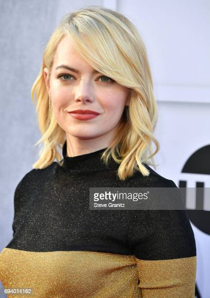 Emma Stone arrives at the AFI Life Achievement Award Gala Tribute To Diane Keaton on June 8 2017 in Hollywood California