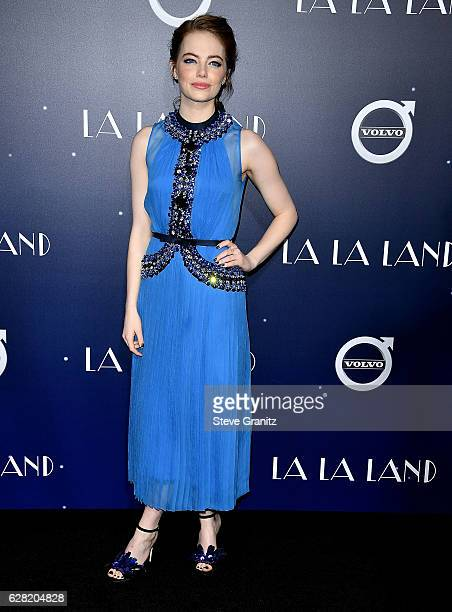 Emma Stone arrives at the Premiere Of Lionsgate's 'La La Land' at Mann Village Theatre on December 6 2016 in Westwood California