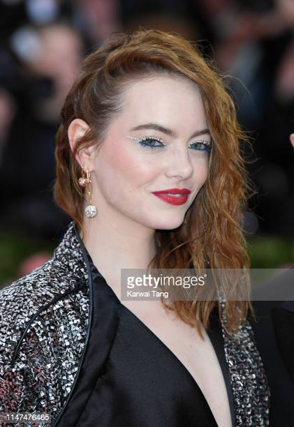 Emma Stone arrives for the 2019 Met Gala celebrating Camp Notes on Fashion at The Metropolitan Museum of Art on May 06 2019 in New York City