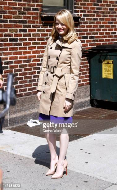 Emma Stone arrives for 'The Late Show with David Letterman' at Ed Sullivan Theater on June 25 2012 in New York City