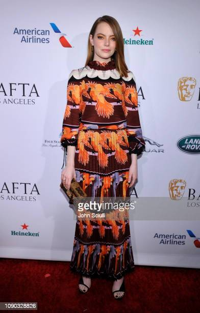 Emma Stone arrives to the BAFTA Tea Party at The Four Seasons Hotel Los Angeles at Beverly Hills on January 05 2019 in Beverly Hills California
