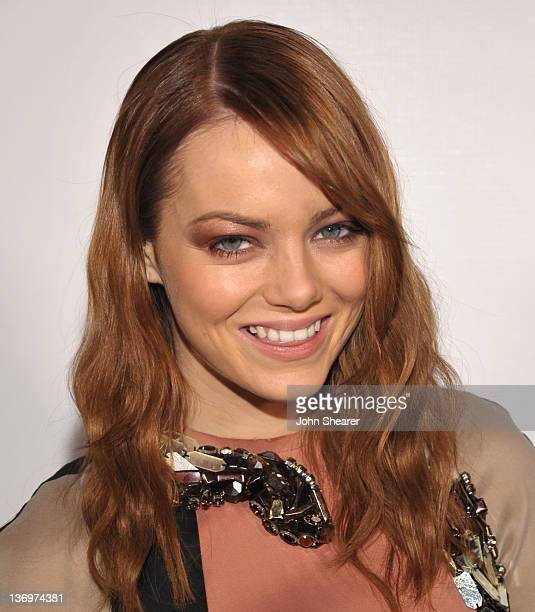 Emma Stone arrives to Vanity Fair Fisker Automotive Toast Dreamworks Pictures Golden Globes Best Drama Nominations 'The Help' And 'War Horse' at...