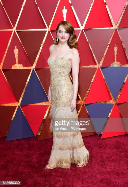 Emma Stone arriving at the 89th Academy Awards held at the Dolby Theatre in Hollywood Los Angeles USA