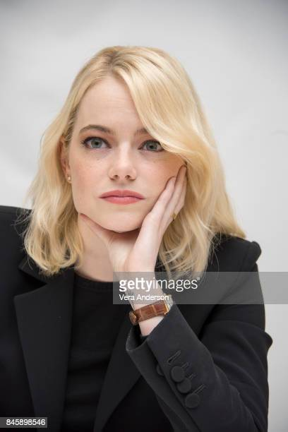 Emma Stone at the 'Battle of the Sexes' Press Conference at the Fairmont Royal York Hotel on September 11 2017 in Toronto Canada