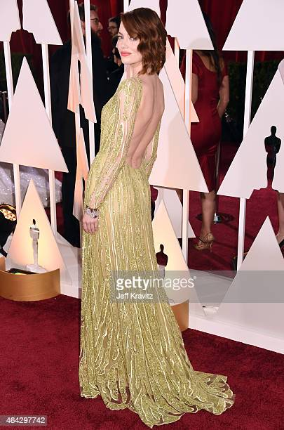 Emma Stone attend the 87th Annual Academy Awards at Hollywood Highland Center on February 22 2015 in Hollywood California