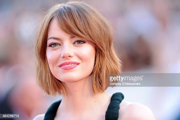 Emma Stone attends 'Birdman' Premiere during 71st Venice Film Festival on August 27, 2014 in Venice, Italy.