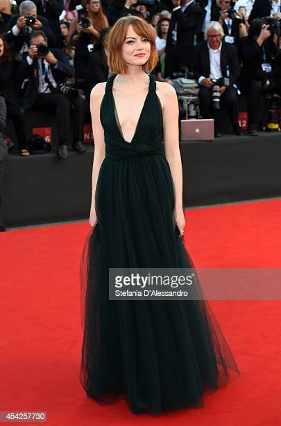 Emma Stone attends 'Birdman' Premiere during 71st Venice Film Festival on August 27 2014 in Venice Italy