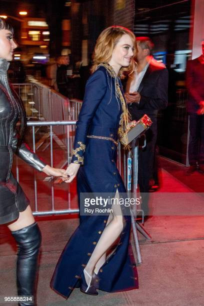 Emma Stone attends Heavenly Bodies Fashion The Catholic Imagination Costume Institute Gala after party at the Standard Hotel on May 7 2018 in New...