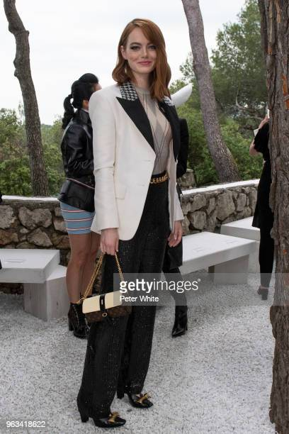 Emma Stone attends Louis Vuitton 2019 Cruise Collection at Fondation Maeght on May 28 2018 in SaintPaulDeVence France