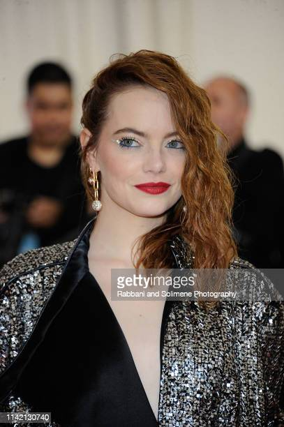 Emma Stone attends The 2019 Met Gala Celebrating Camp Notes On Fashion Arrivals at The Metropolitan Museum of Art on May 6 2019 in New York City