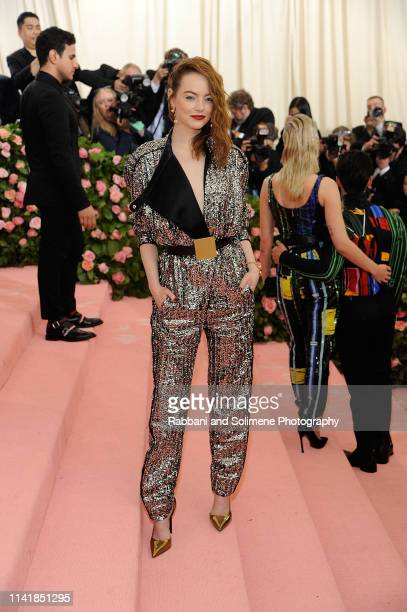 Emma Stone attends The 2019 Met Gala Celebrating Camp Notes On Fashion Arrivalsat The Metropolitan Museum of Art on May 6 2019 in New York City