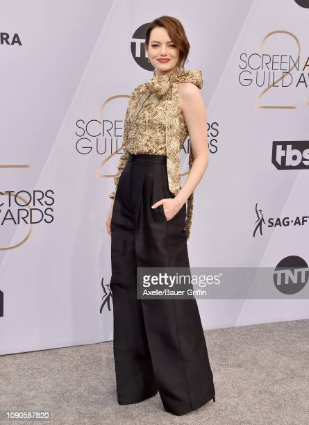 Emma Stone attends the 25th Annual Screen Actors Guild Awards at The Shrine Auditorium on January 27 2019 in Los Angeles California