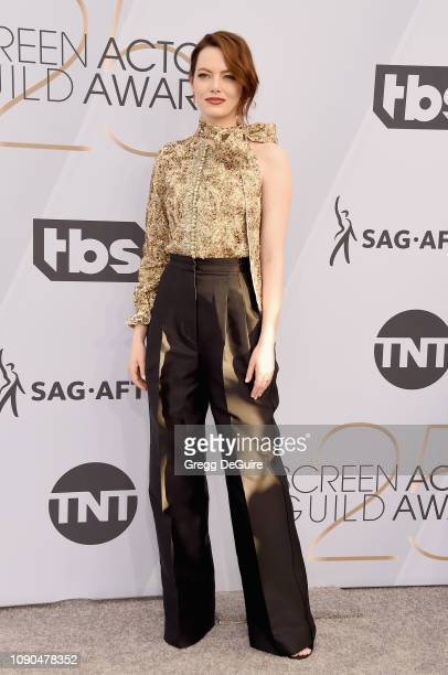 Emma Stone attends the 25th Annual Screen ActorsGuild Awards at The Shrine Auditorium on January 27, 2019 in Los Angeles, California. 480645