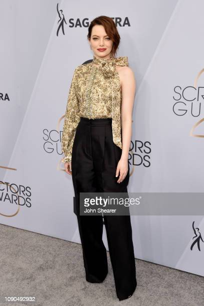 Emma Stone attends the 25th Annual Screen ActorsGuild Awards at The Shrine Auditorium on January 27, 2019 in Los Angeles, California.