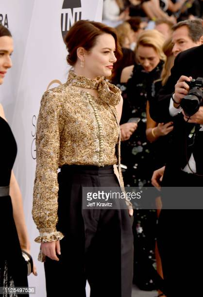 Emma Stone attends the 25th Annual Screen ActorsGuild Awards at The Shrine Auditorium on January 27 2019 in Los Angeles California