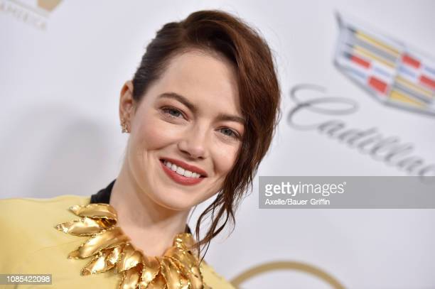 Emma Stone attends the 30th Annual Producers Guild Awards at The Beverly Hilton Hotel on January 19 2019 in Beverly Hills California