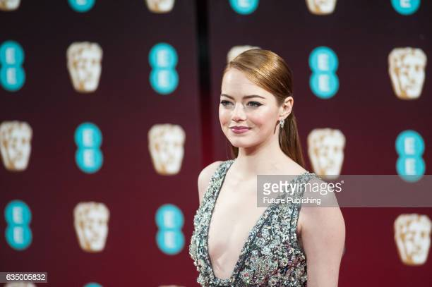 Emma Stone attends the 70th British Academy Film Awards ceremony at the Royal Albert Hall on February 12 2017 in London England PHOTOGRAPH BY Wiktor...