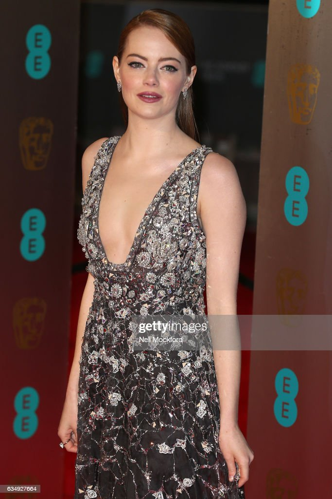 Emma Stone attends the 70th EE British Academy Film Awards (BAFTA) at Royal Albert Hall on February 12, 2017 in London, England.