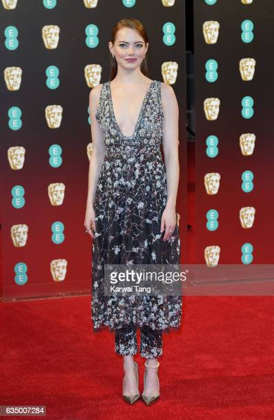Emma Stone attends the 70th EE British Academy Film Awards at the Royal Albert Hall on February 12 2017 in London England