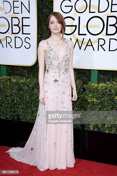 Emma Stone attends the 74th Annual Golden Globe Awards at The Beverly Hilton Hotel on January 8 2017 in Beverly Hills California