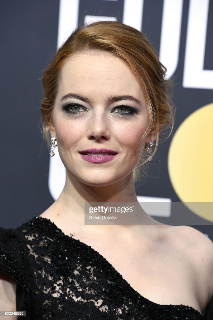 Emma Stone attends The 75th Annual Golden Globe Awards at The Beverly Hilton Hotel on January 7, 2018 in Beverly Hills, California.