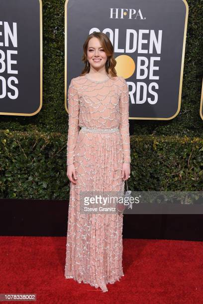 Emma Stone attends the 76th Annual Golden Globe Awards at The Beverly Hilton Hotel on January 6 2019 in Beverly Hills California