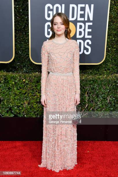 Emma Stone attends the 76th Annual Golden Globe Awards held at The Beverly Hilton Hotel on January 06 2019 in Beverly Hills California